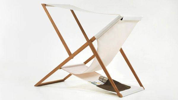 classic wooden deck chair