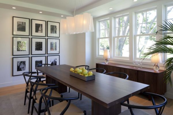 How to create a focal point for your interior d cor for Decorating ideas for large dining room wall