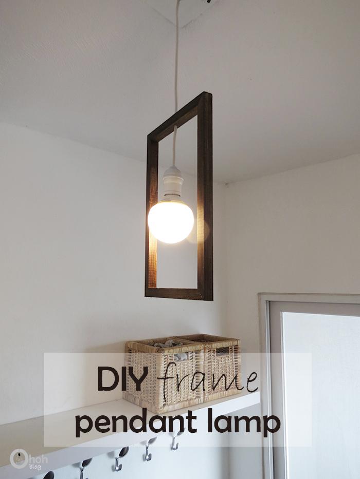 diy frame minimal pending lamp