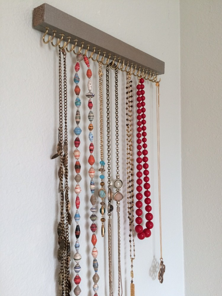 diy necklace holder cheap and practical necklace holders you can make yourself 31065