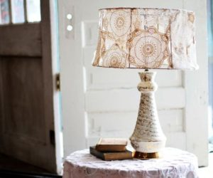 DIY vintage lamp makeover