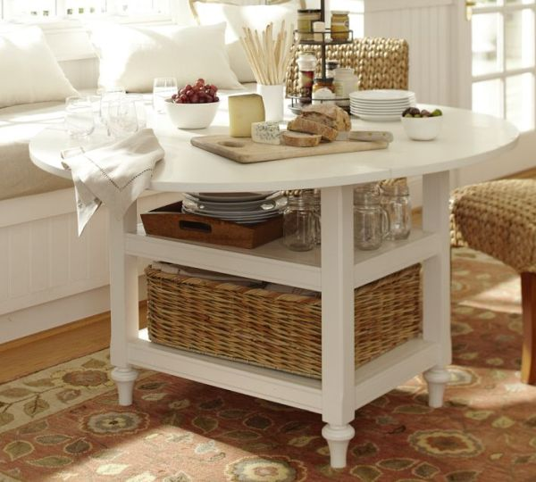 Shayne Drop Leaf Kitchen Table White
