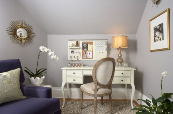 Feminine office interior design