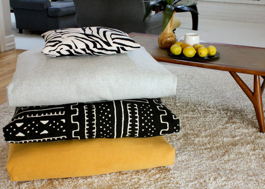 Easy To Make Floor Pillows : Easy To Make Floor Pillows And Poufs For A Cozy Home