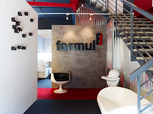 Bold combination of colors for a strong branding agency office
