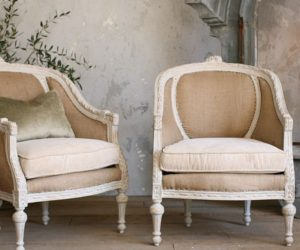 Two very stylish Louis XVI-style chairs