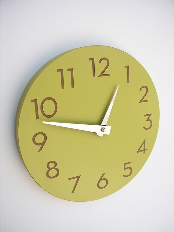 Modern Chartreuse clock