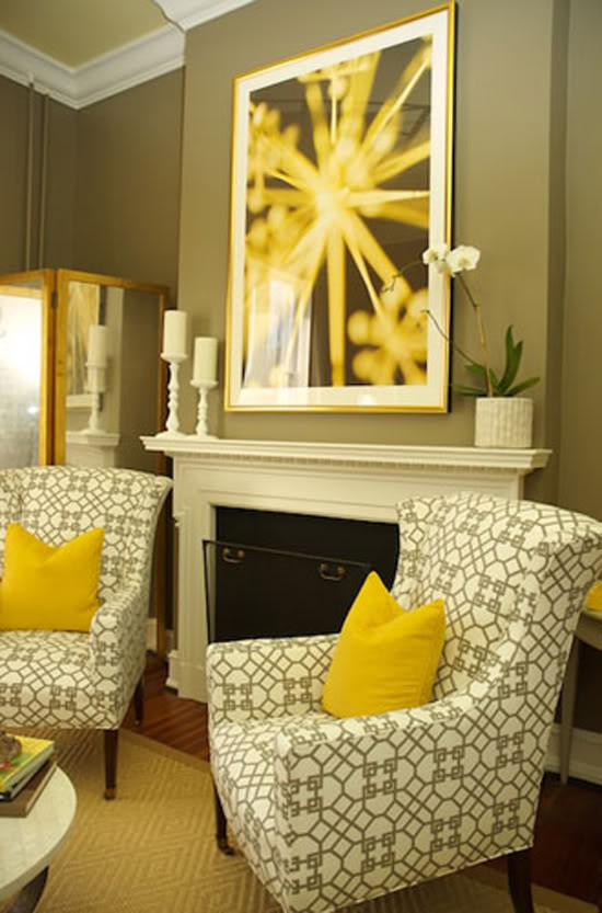 Popular Yellow And Grey Accent Chair Creative