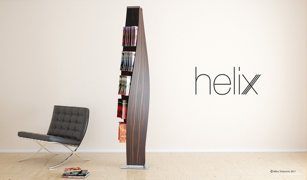The Helix Magazine Rack