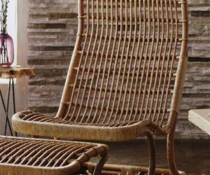 ... The Anders High Back Wicker Chair