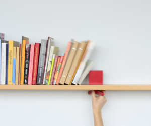 Conceal Bookshelf From Umbra · A Bookshelf That Holds Your Books Upright