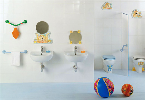 Bathroom Kids playful kids bathroom decoration ideas