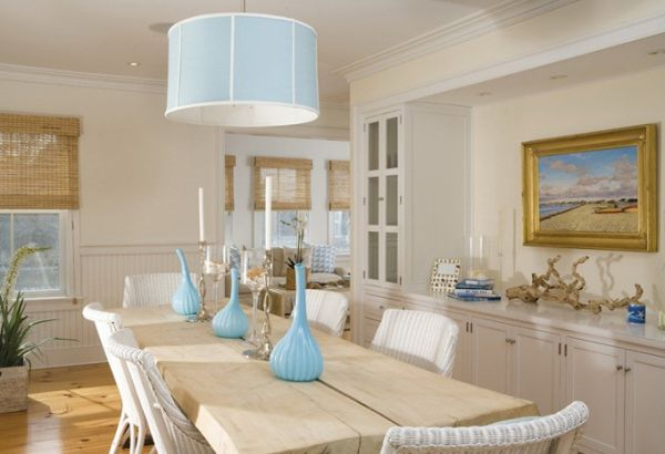 ... Turquoise Armchairs And Some Dishes On A Dinner Table Which Are Light  Blue And Green And That Seem To Add More Life And Freshness To The White  Interior. Amazing Pictures