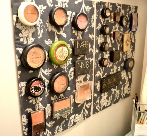 diy wall makeup organizer. view in gallery diy wall makeup organizer