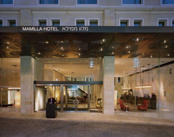 Elegant mamilla hotel in jerusalem by safdie architects for Hotel design jerusalem