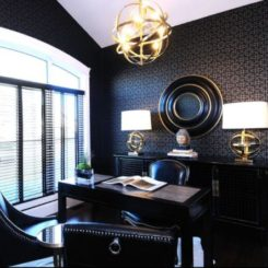 Masculine feel office interior design