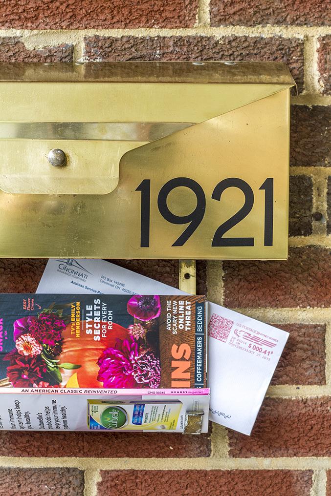 mid century mail organizer