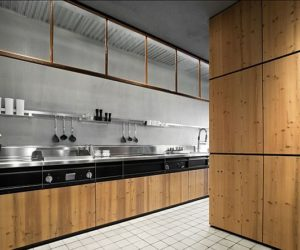 Warmth wood and steel skin kitchen