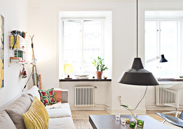 Bright and modern studio apartment in an old building