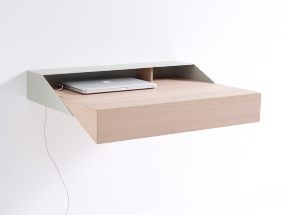 Deskbox Small Wall Mounted Desk Cabinet