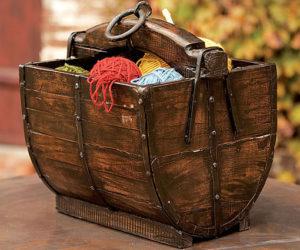 Antique wooden well buckets