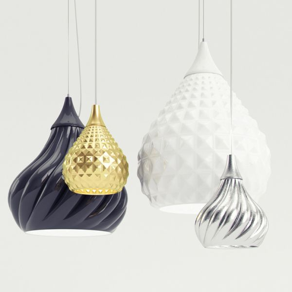 Dynamic And Stylish Suspension Lamps By Enrico Zanolla