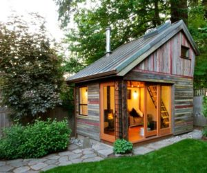 Megan Lea's Backyard House Built From Recycled Barnboards