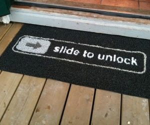 go away doormat the funny slide to unlock doormat