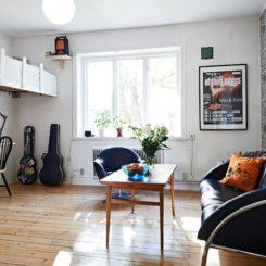 Living big in a tiny studio apartment inspiring interior design