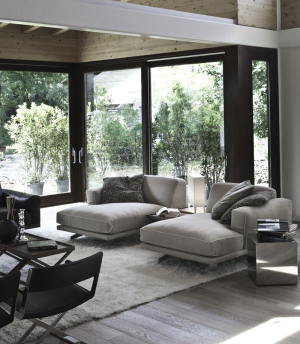 Wonderful Modern Chaise With Base In Chromed Aluminum And Walnut Good Ideas