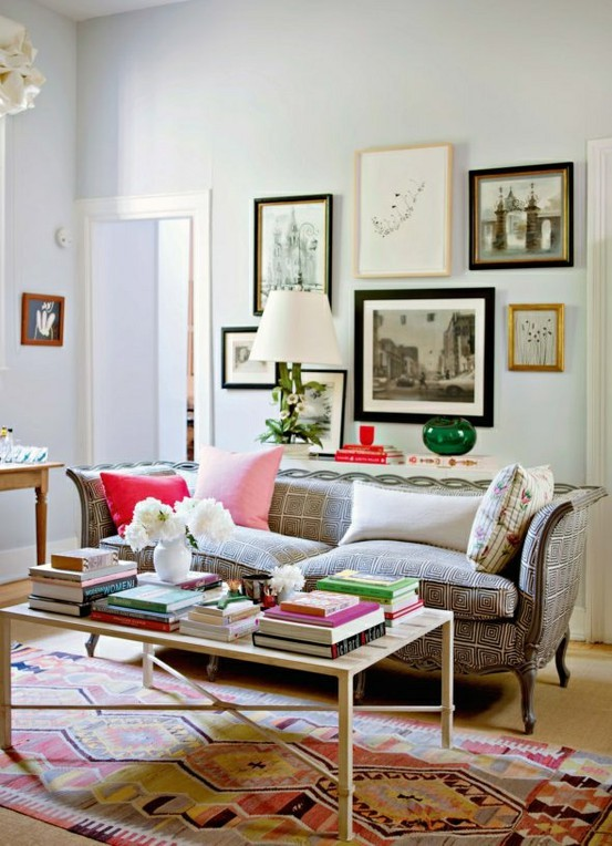 5 ways to decorate with collages for Decor over couch
