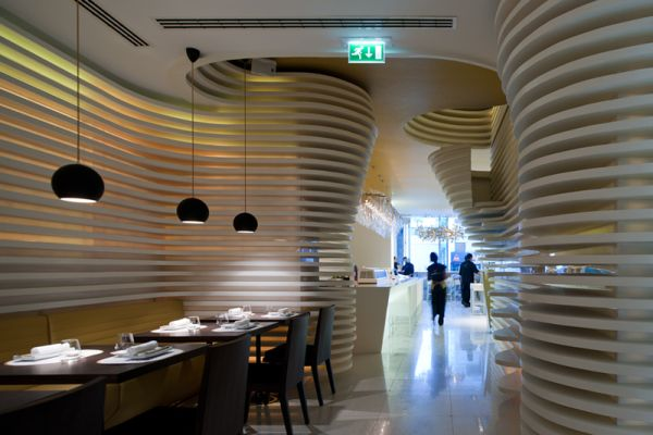 The contemporary sushicafé avenida restaurant in lisbon