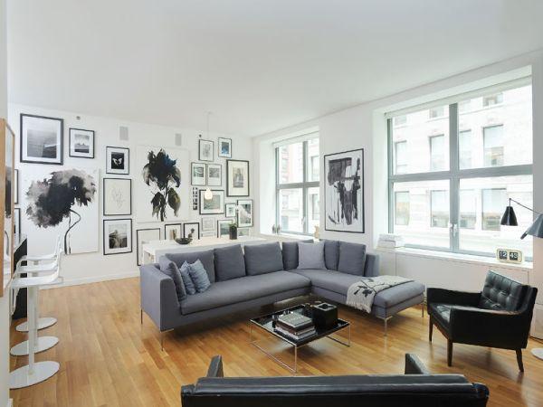 Spacious Black White And Grey Apartment