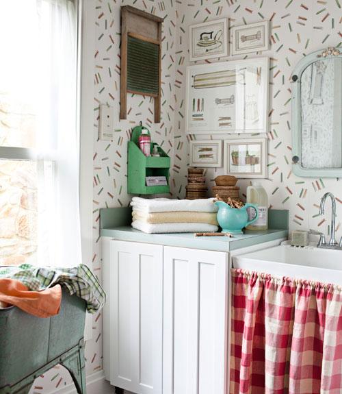 laundry room retro wallpaper - photo #16