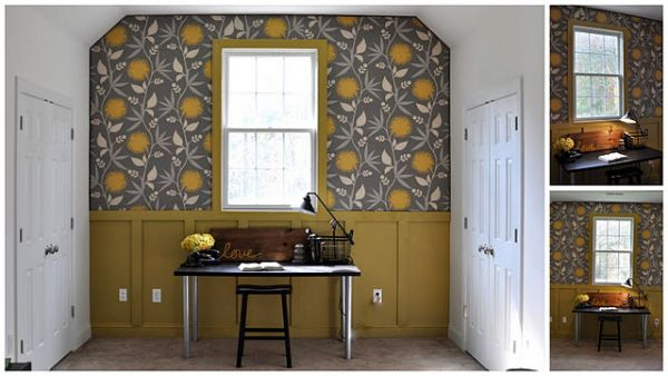 Before And After: Redecorating Using Fabric Wallpaper