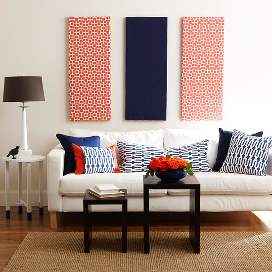 Create Contrast By Adding A Pop Of Color To A White D Cor