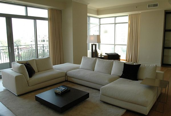 white couch living room. View in gallery How to keep a white sofa clean