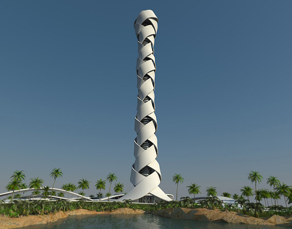 Another huge building in dubai called woven tower for Famous structures in dubai