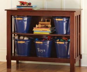 Playful Kids Bathroom Decoration Ideas · Two Shelf Kids Storage Furniture