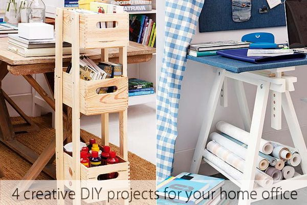 4 creative diy projects for your home officeg home decorating trends homedit solutioingenieria Image collections