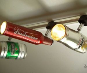 Recycled Beer Can Track Lighting