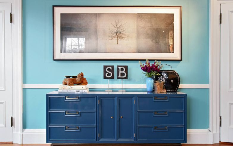 Blue Sideboard Storage System