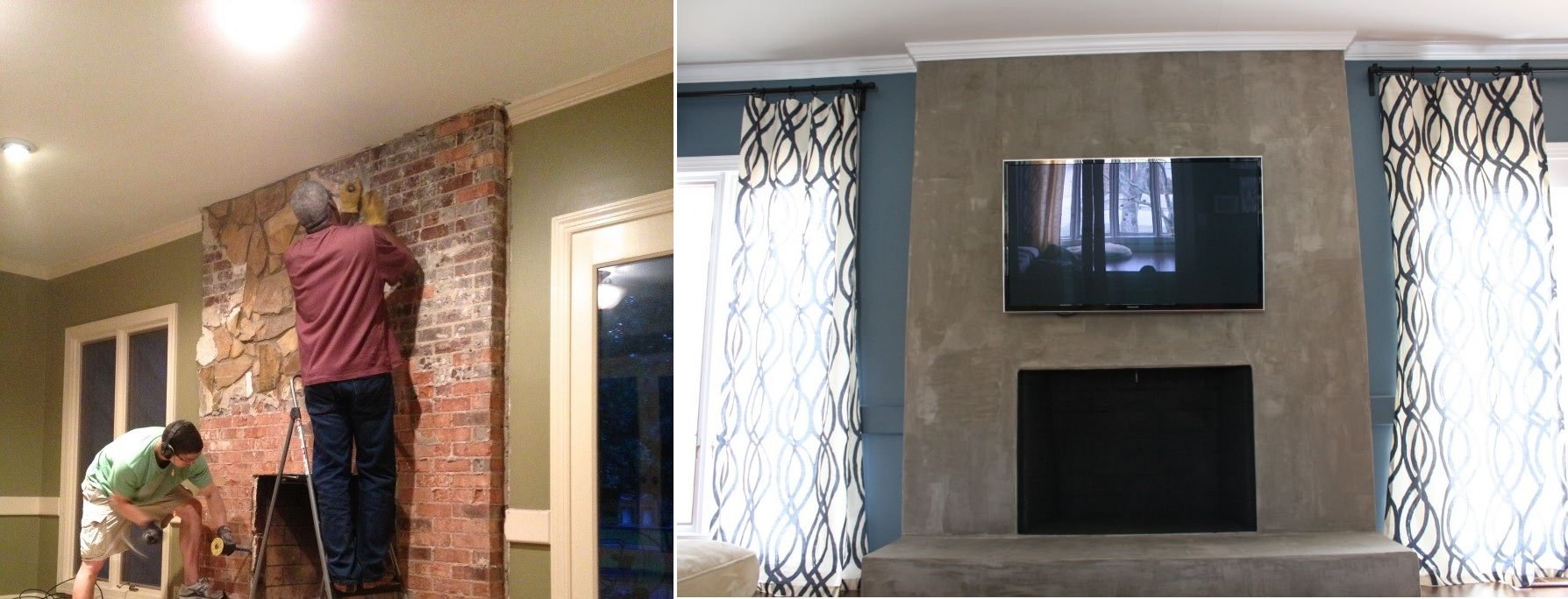 like happy but before portuguese tile cement just ceramic made with modern makeover fireplace