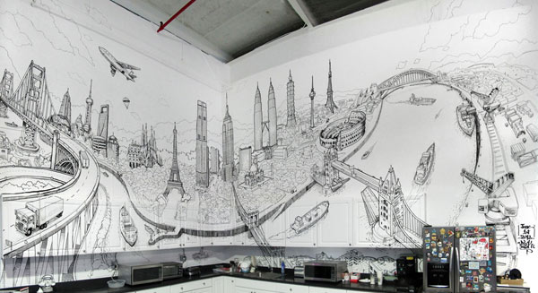 Artistic And Very Creative Kitchen Wall Decor
