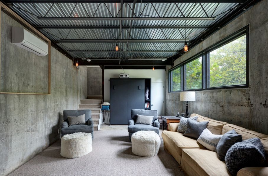 Delicieux Grey Accents Through Concrete Walls