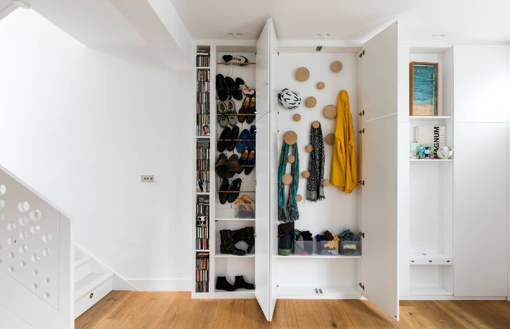 Hallway and entryway hidden storage ideas