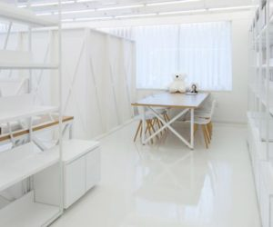 White interior design office in Seoul