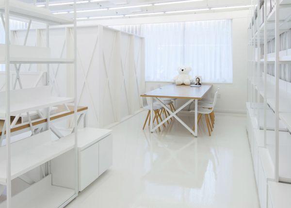 White interior design office in seoul for Office design white