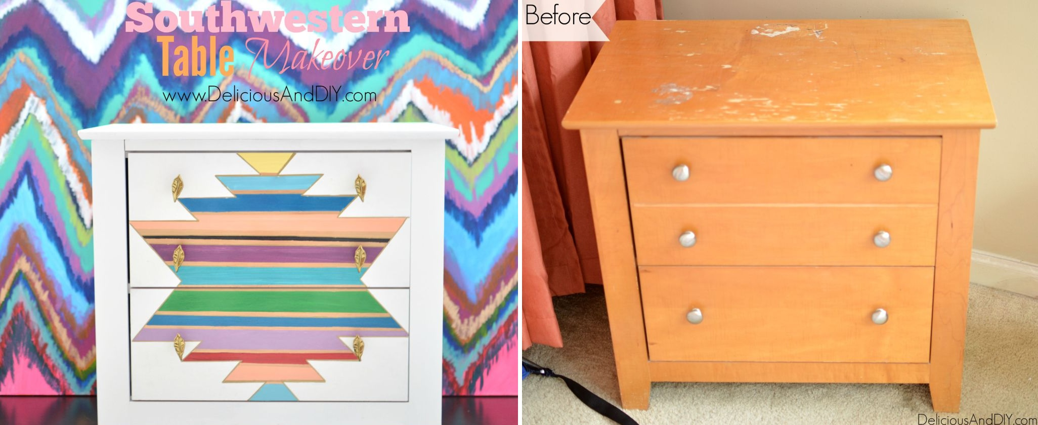Nightstand colorful design