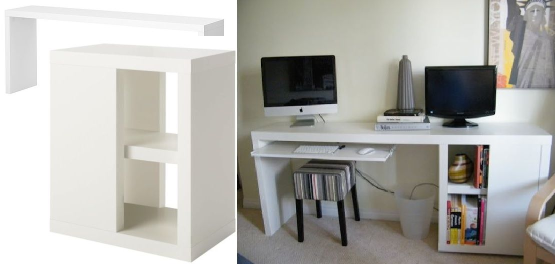 Office Diy Desk From Ikea